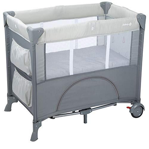 Safety 1st Mini Dreams Parque cuna bebé, Cuna de viaje plegable, Cuna portátil y compacta, con bolsa de viaje, 0 meses - 9 kilos, color Warm grey