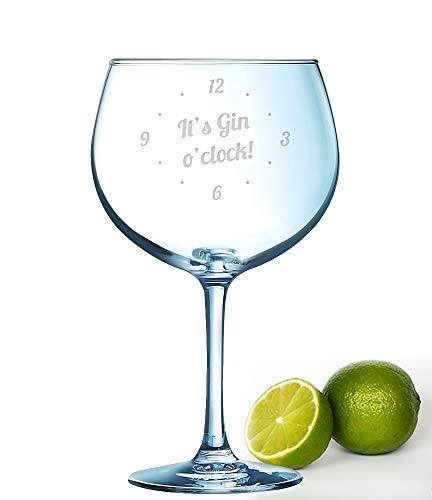 Gin O\'Clock Gin-Glas mit Lasergravur, 72 cl