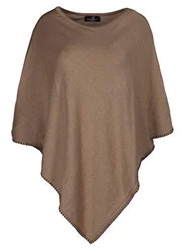 Zwillingsherz Poncho mit Baumwolle - Hochwertiges Cape Häkelrand für Frauen Damen Mädchen - XXL Umhängetuch und Tunika - Strick-Pullover - Sweatshirt - Stola für Frühjahr Sommer Herbst und Winter Bra