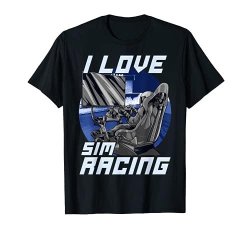 I Love Sim Racing – propriétaires de bas de ligne de simulateur de voiture et de conduite T-Shirt