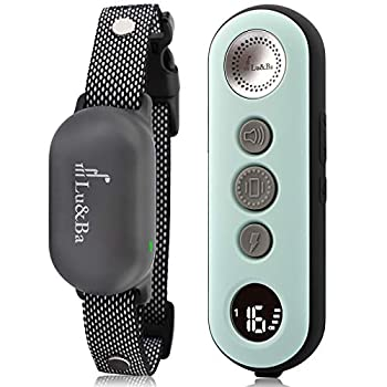 Lu&Ba Dog Shock Collar Rechargeable Dog Training Collar with Remote 3000ft Waterproof E Collar with 3 Safe Mode Beep Vibration and 16 Shock Level for 10-110lb Small Medium Large Dogs