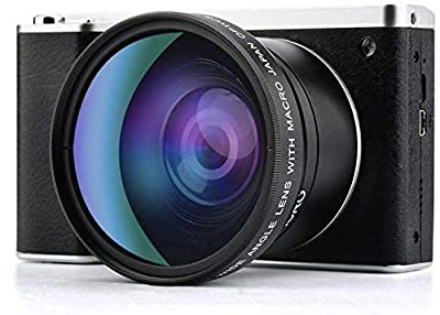 Digital Camera,Vlogging Camera 4.0 Inch Touch Monitor 24MP FHD 1080P Wide Angle Lens YouTube Camera 8X Digital Zoom Camera with Flash Microphone (X7) by GordVE