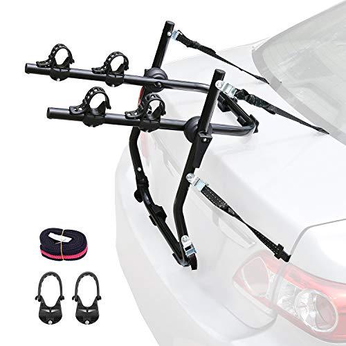 Leader Accessories Supporto Posteriore portabici per Auto, Portapacchi Pieghevole per Maggior Parte delle Berline / Minivan e SUV per 2 Bici