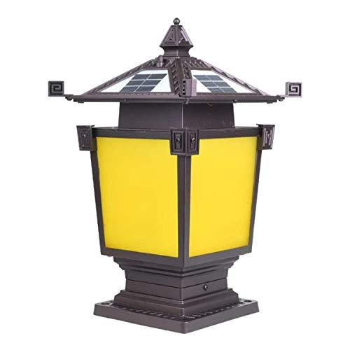 Solar Column Headlights LED Outdoor Post Pillar Lamp Waterproof Rainproof Community Garden Villa Wall Landscape Lighting Courtyard Doorpost Lights