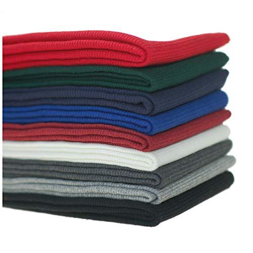 Ruban coton tricoté,Bandes élasthanne-Tissu élastique à côte,Poignée souple,Excellente résistance.Pour manchettes de vêtements,cols, bords passepoils.9 couleurs disponible