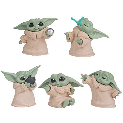 5-Pack Baby Yoda Gifts,2.2-Inch Baby Yoda Doll,Baby Yoda Toys for Kids,Baby Yoda Action Figure,Child Yoda Toy,Baby Yoda Figurine,Bebe Yoda for Boys
