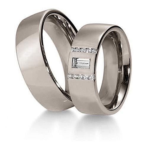 CORE by Schumann Design Trauringe/Eheringe aus 950/Platin mit echten Diamanten GRATIS Gravur 19022345