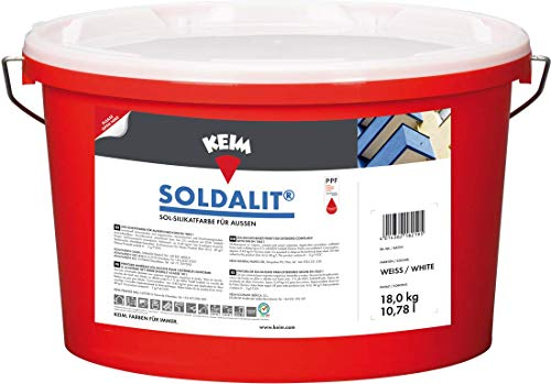 Keim Soldalit - Pintura de silicato para fachadas (18 kg), c