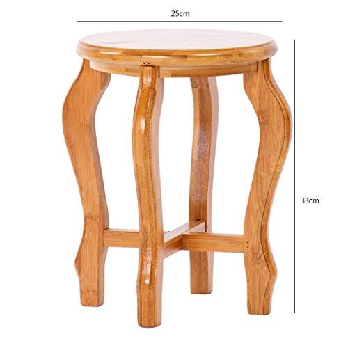 MMM& Bambus runden Hocker Einfache Blume Racks Ländliche Möbel Portable Shelf ( größe : M )