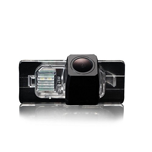 Navinio Auto Rückfahrkamera Einparkhilfe für A4L A6L A1 A7 A3 A4 A5 S3 Q3 Q5 TT Skoda Superb VW Golf 6 Golf Jetta Passat Sharan Touran Touareg Tiguan Cayenne (Model 9128= 75x32mm with Clip Connector)