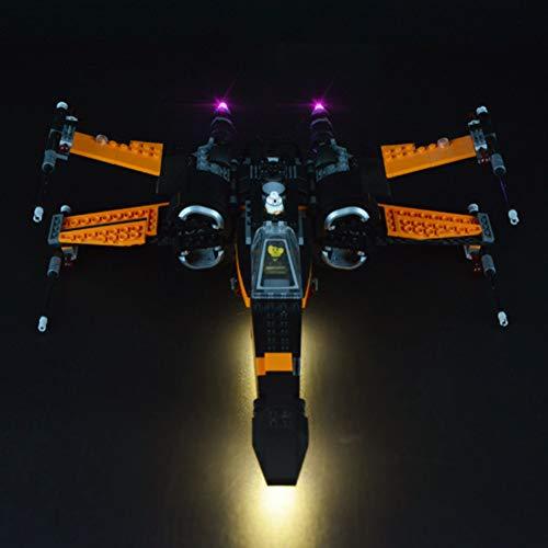 Nlne Kit De Iluminación LED para (Star Wars Poe's X-Wing Fighter) Compatible con Ladrillos De Construcción Lego Creator Modelo 75102 (NO Incluido En El Modelo)