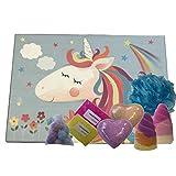 Be-Creative Juegos de regalo para bombas de baño, regalo hecho a mano, regalo de Navidad o cumpleaños (estuche de unicornio rectangular)