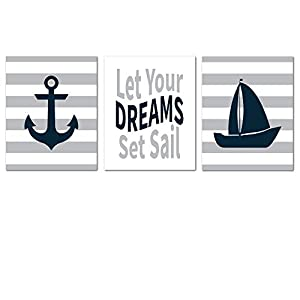 Nautical Unframed Nursery Decor Wall Art Print for...
