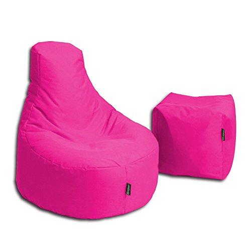 BuBiBag Sitzsack Stillkissen Set Kissen Lounge Gamer Sitzsack Sessel original Sitzkissen In & Outdoor geeignet fertig befüllt in 32 Farben...