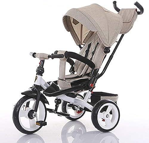 Kinder Dreirad, 1-6 Jahre alt, kann sitzen und liegen Kinderwagen, Kinderwagen (Farbe   D)