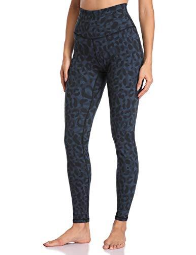 Colorfulkoala Women's High Waisted Pattern Leggings Full-Length Yoga Pants (XL, Cyan Leopard)