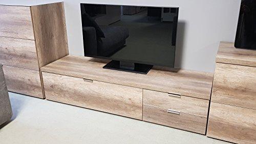 Möbel Akut Lowboard Cleo 12 TV Board Wildeiche 1 Klappe 2 Schubkästen von CS Schmal