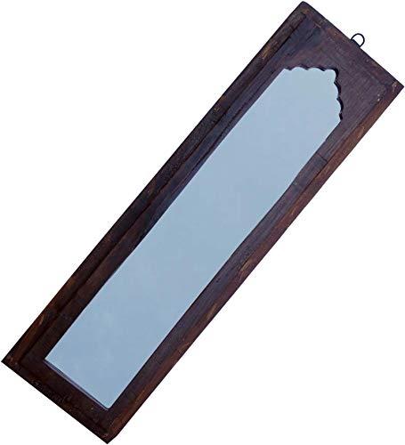 Guru-Shop Antieke Spiegel, Badkamerspiegel, Halspiegel, Decoratieve Spiegel Vintage - Ontwerp 28, Bruin, 71x20x2 cm, Spiegels