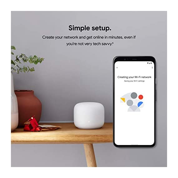 Google Nest Wifi - AC2200 - Mesh WiFi System - Wifi Router - 2200 Sq Ft Coverage- 1 pack 9 This product includes two router units. Nest Wifi is a scalable and flexible Wi-Fi system These Nest Wifi devices work together to blanket your whole home in fast, reliable Wi-Fi and eliminate buffering in every room – with coverage up to 2200 square feet. One Wi-Fi router plugs into your internet provider's modem to create your Wi-Fi network The other extends the wireless network and keeps your connection fast to devices in every room. For more coverage, add Nest Wifi routers or points to your system.