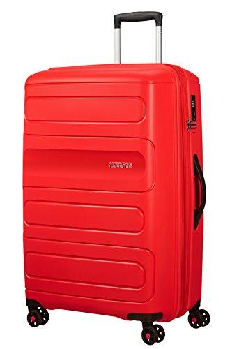 American Tourister Sunside Spinner 77 Espandibile Bagaglio a mano, 4.5 KG, L (77 cm - 118L), Rosso (Sunset Red)