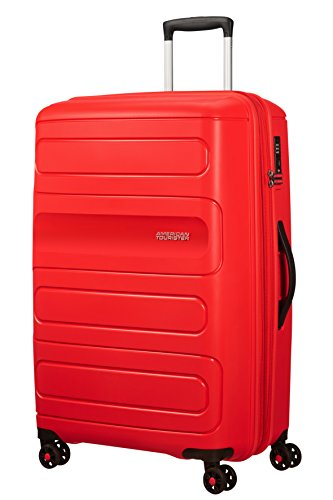 American Tourister Sunside Spinner 77 Expandible, 4.5 KG, 106/118L, Sunset Rojo