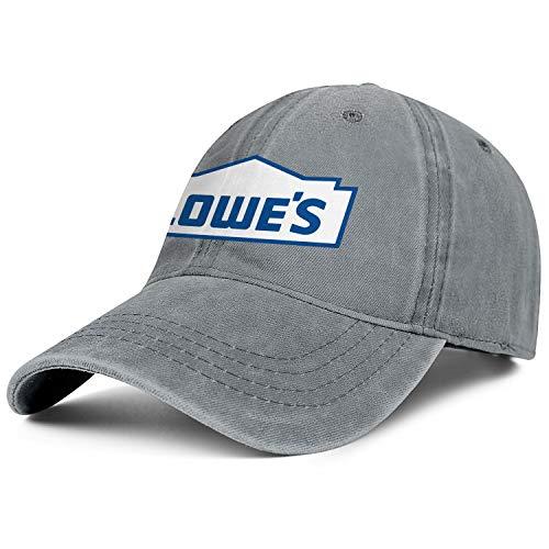 Unisex Man Denim Baseball Hats Low Key Adjustable Mesh Sun Lowe's-Logo-Blue-Flat Cap