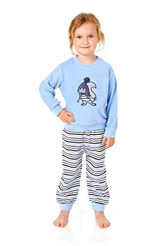 Meisjes peuters badstof pyjama pyjama met manchetten en schattige dieren als motief