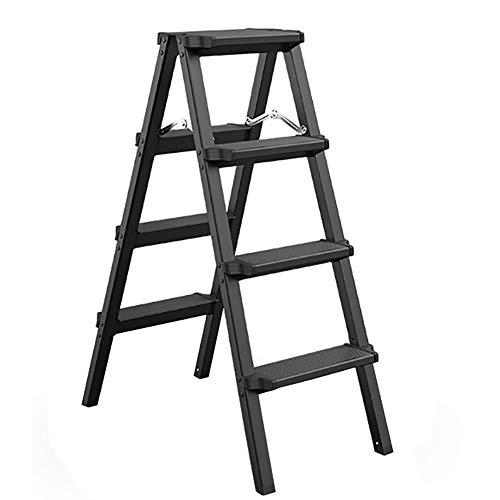 YXX-Trittleiter Aluminiumlegierung Stufenleiter, Heavy Duty Faltschritts Hocker for Küche, Geschäft und Bad - Leicht, laden 150 kg / 330lbs (Color : Style-2, Size : 4-Step)
