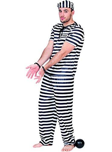 Fyasa Disfraz de prisionero para niños a partir de 12 años, multicolor, L 892940-T04