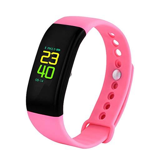 Alvnd Multifunctionele smart-armband, activiteitstracker met hartslag-zuurstofdrukmonitor, OLED-kleurendisplay, smart-armband, E