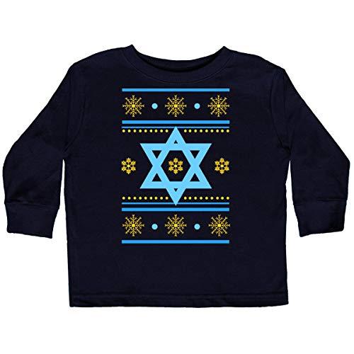 inktastic Hanukkah Ugly Sweater Toddler Long Sleeve T-Shirt 5-6 Black 2d89e
