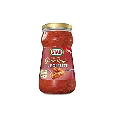 Star Il Mio Gran Ragù Tomato Sauce with Pork and Sausage Meatballs for Pasta 360g 100% Italian!
