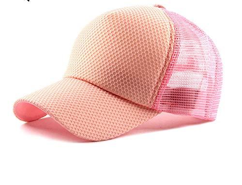 Baseball Caps für Herren,Trucker Kappe Mesh Basecap,Baseballmütze Im Frühjahr Und Sommer, Sonnenhut Im Freien Männer Sonnenhut Verstellbar Rosa