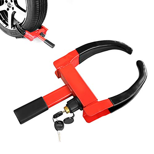 KAYCENTOP Trailer Wheel Clamp Lock Max 10in Tire Width Anti Theft Tire Clamp Boot for Atv's Boats Trailers Motorcycles Golf Carts 2 Keys