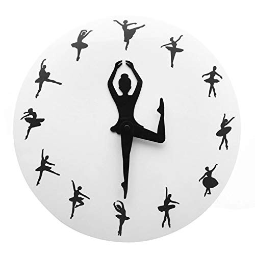 yage Reloj de Pared novedoso para niña Bailarina, decoración del hogar, Reloj de Mujer Bailando, Reloj de Pared Moderno sin tictac