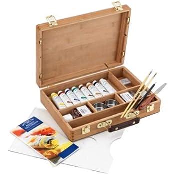 Winsor & Newton Artists - Juego de pinturas y accesorios para pinturas al óleo (en caja de bambú): Amazon.es: Oficina y papelería