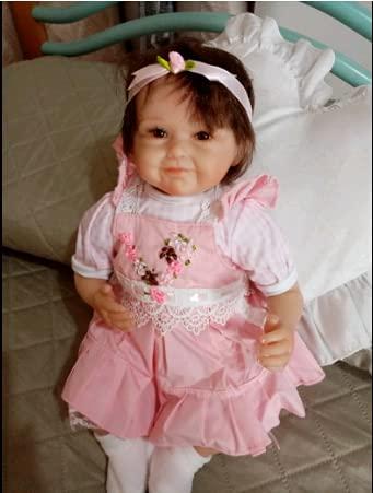 iCradle Reborn Doll - Muñeca de 18 pulgadas para bebé y niña, 45 cm, silicona flexible, vinilo suave y suave