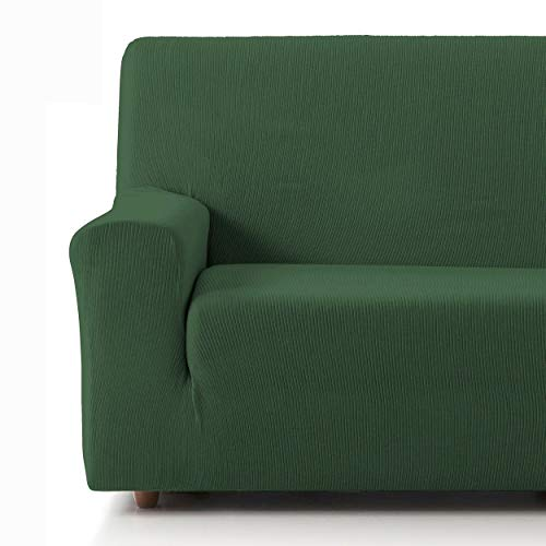 Eiffel Textile Funda Sofa Elastica Protector Adaptable Rústica Sofá 2 Plazas, 50% Poliéster, Verde