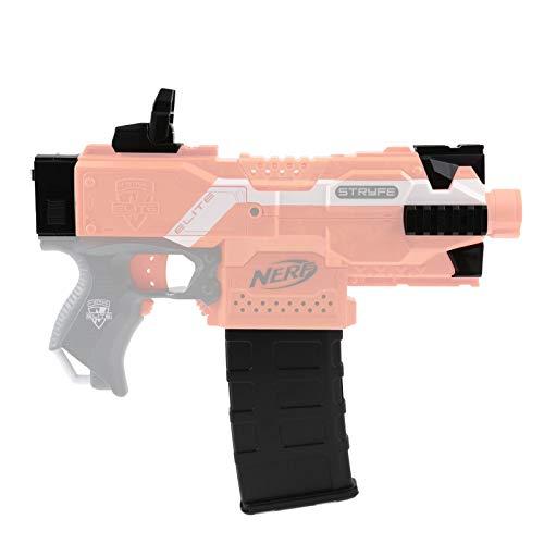 Blasterparts - Kit SMG 3 para Nerf N-Strike Elite Stryfe: Mod Upgrade Kit Iron Sight con agujero abatible y correa de sujeción - Negro