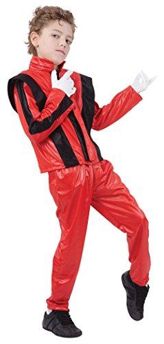 Bristol Novelty CC819 Pantalones/Chaqueta de Super Estrella, Grande, Rojo, Edad aprox 7- 9 años