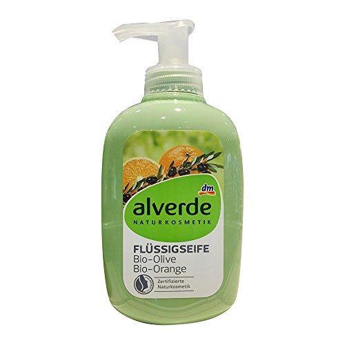 alverde NATURKOSMETIK Flüssigseife Olive-Orange, 300ml Flasche (1er Pack)