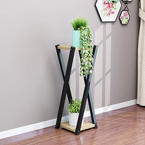 Balcon voyantes Cadre à fleurs en fer forgé en bois massif sur plusieurs niveaux salon radis vert balcon charnu support de pot de fleur 80 * 20 * 20 Plantes d'extérieur Présentoir (Couleur : F)