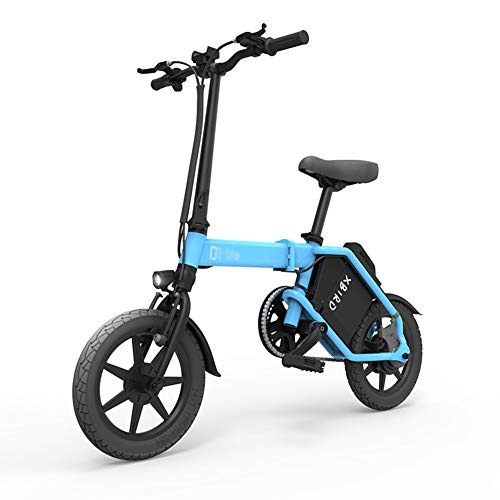 ABYYLH Bicicleta Electrica Plegable Paseo Fat E-Bike Unisex Triciclo Portátil,Blue