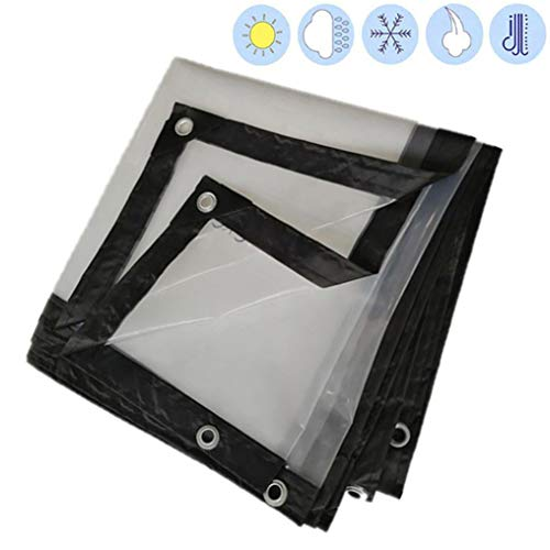 YU-CZ0 Tarpaulin Sheet Waterproof Clear Tarp Garden Plant Tarpaulin Thickness 0.12cm PE Material Soft,2 * 2M