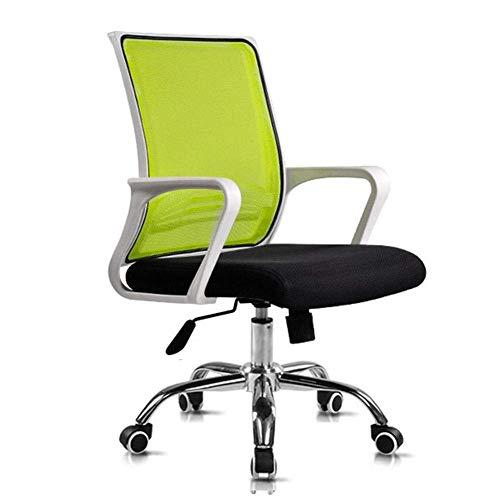 WSDSX Bürostuhl Ergonomisches drehbares Schreibtischstuhlgitter und Leder mit hoher Rückenlehne Schwarz-Weiß-Armlehne für Gaming-Computer PC-A