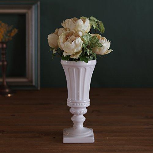 Goblet style ヨーロピアントラディショナル 格調高いクラシックデザイン・陶器 花器 花瓶