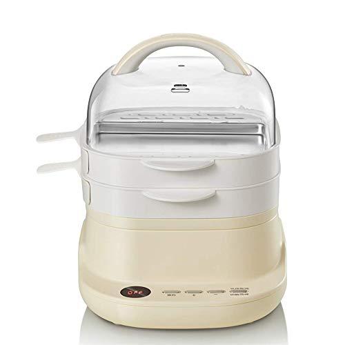 YSYDE Schublade Typ elektrische Dampfgarer Frühstücksmaschine, abnehmbare Topfkörper ist leicht zu reinigen, geformte Ringstruktur, schnelles Erhitzen und Dämpfen, für ältere Menschen, Kinder