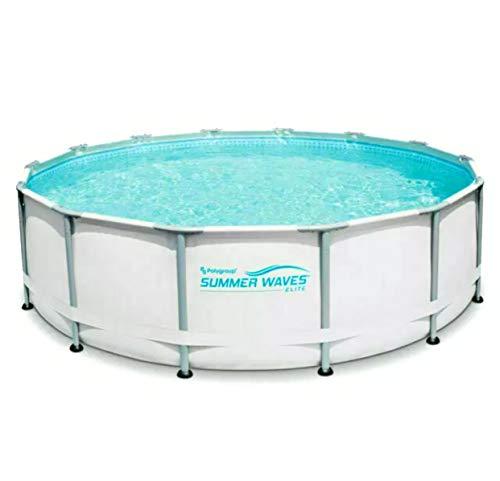 SW Summer Waves Elite 14'x42 Premium Frame Pool with Filter Pump System
