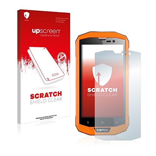 upscreen Schutzfolie kompatibel mit Icefox Hero Plus – Kristallklar, Kratzschutz, Anti-Fingerprint