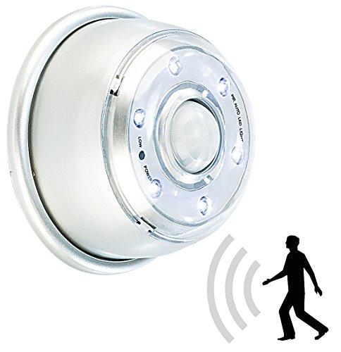 Lunartec Bewegungsmelder Licht: LED Innen- & Außenlicht mit PIR-Sensor & Magnethalterung, IP44, 100 lm (Nachtlicht Bewegungsmelder)